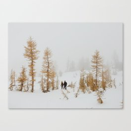 Walking in Larch Land Canvas Print