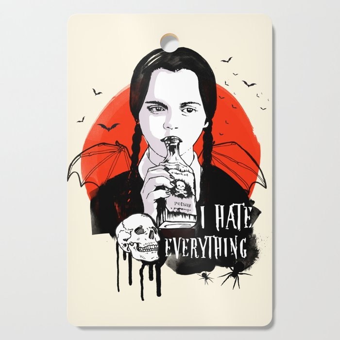 Wednesday The Addams family art Cutting Board