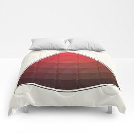 Le Rouge-Orangé (ses diverses nuances combinées avec le noir) Remake (Interpretation), no text Comforters