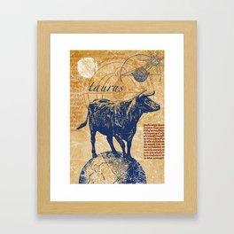 taurus | stier Framed Art Print