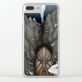 The White Dragon Lair Clear iPhone Case
