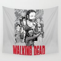 the walking dead Wall Tapestries featuring Walking Dead by Matt Fontaine Creative