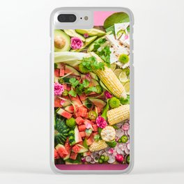 Late Summer Harvest Clear iPhone Case