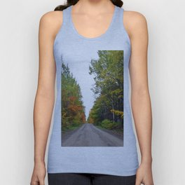 Forest Road in the Fall Unisex Tank Top