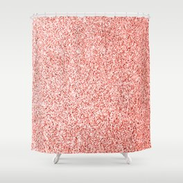 Living coral light glitter sparkles Shower Curtain