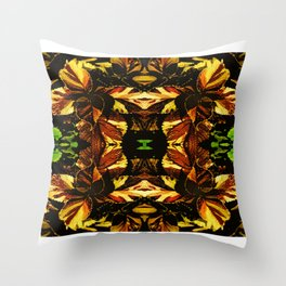 Colorful Coleus Throw Pillow