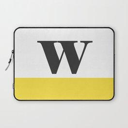 Monogram Letter W-Pantone-Buttercup Laptop Sleeve