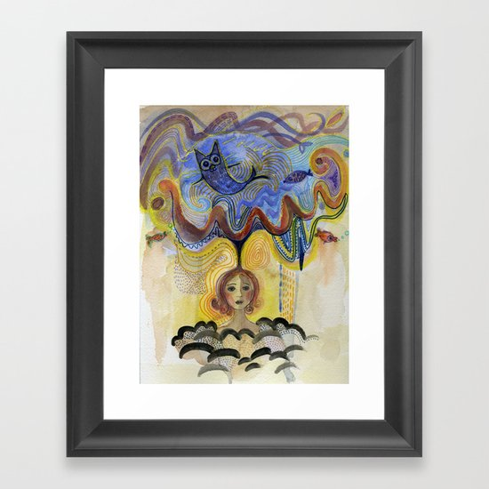 cloud of imagination Framed Art Print