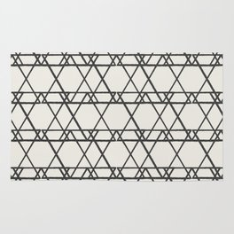 lines crayon-ivory Rug
