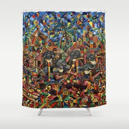 Juju Dance Group Shower Curtain
