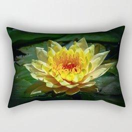 Yellow water lily Rectangular Pillow