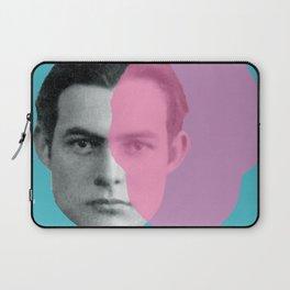 Hemingway - portrait pink and blue Laptop Sleeve
