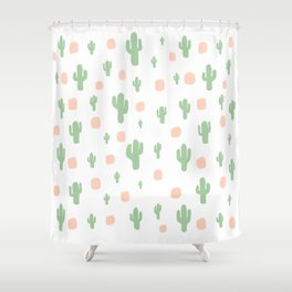 Cactus Pattern - tight Shower Curtain