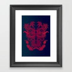 Tropical Rorschach Framed Art Print