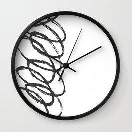 Curly-Q Wall Clock