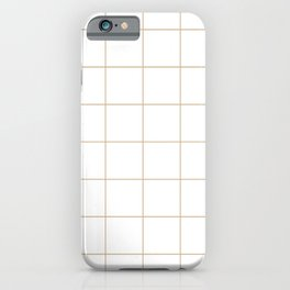 Graph Paper (Tan & White Pattern) iPhone Case