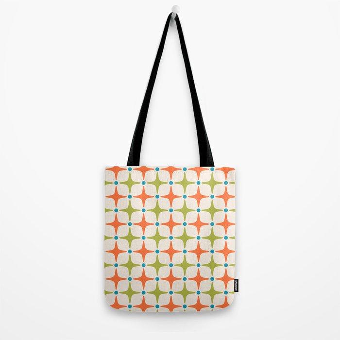 Mid Century Modern Star Pattern 822 Tote Bag
