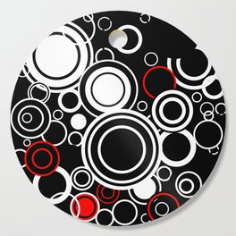 Retro Red And White Circles Cutting Board