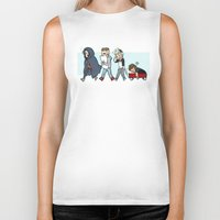 kendrawcandraw Biker Tanks featuring Sleepy Time by kendrawcandraw