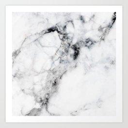 Arctic White Marble Art Print