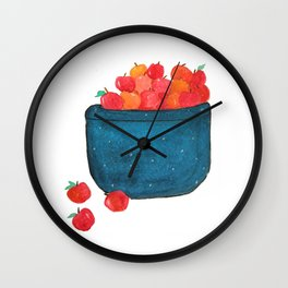 Crab Apple Basket Wall Clock