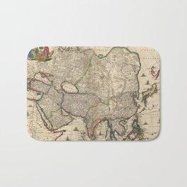 Vintage Map of Asia (1689) Bath Mat