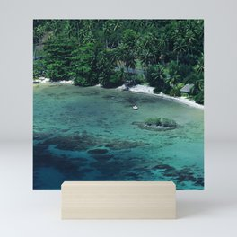 Tahiti White Sand Beach Romantic Getaway Mini Art Print
