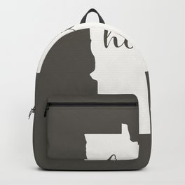 Minnesota is Home - White on Charcoal Backpack