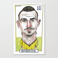 zlatan Canvas Prints featuring ZLATAN by BANDY
