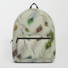 Colorful Peacock Feather Pattern Backpack