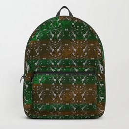 Foil Flower in Green and Gold Backpack