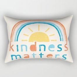 Kindness Matters. Typography Design with Rainbow Rectangular Pillow