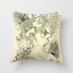 Inverted Mermaid Throw Pillow
