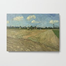 Ploughed fields ('The furrows') Metal Print