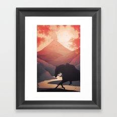 Last Farewell Ride Framed Art Print