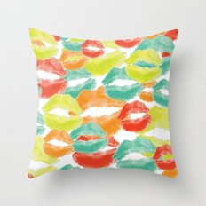 Mod Lips Throw Pillow