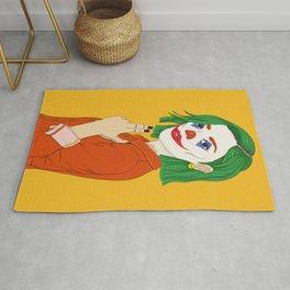 Joker girl - Put on a happy face Rug