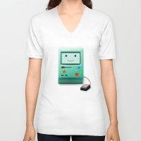 bmo V-neck T-shirts featuring BMO by Karolis Butenas