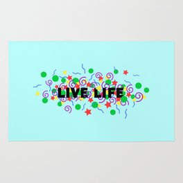 Live Life Rug