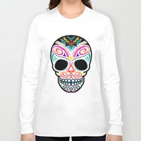 mexican Long Sleeve T-shirts featuring Mexican Skull by Blank & Vøid
