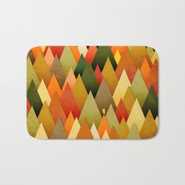 071 – deep into the autumn forest texture II Bath Mat