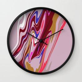 Pink Blob Wall Clock