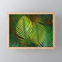 TROPICAL GREENERY LEAVES Framed Mini Art Print