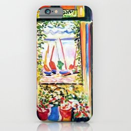 The Open Window Coastal - Floral and Maritime Collioure oil painting by Henri Matisse oil paint iPhone Case