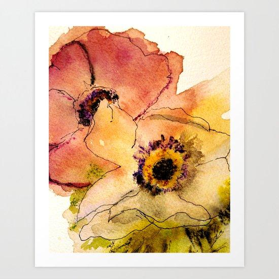 miracle flowers Art Print