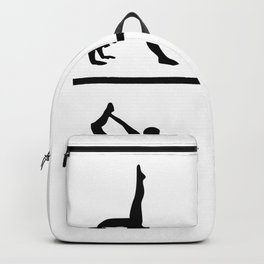 yoga figure Backpack