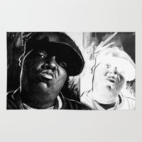 biggie smalls Area & Throw Rugs featuring BIGGIE by ChrisGreavesCreative
