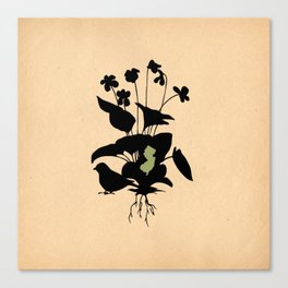 New Jersey - State Papercut Print Canvas Print