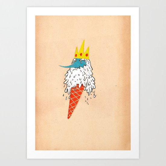 Ice king as an ice cream  Art Print
