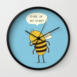 confused bee Wall Clock
